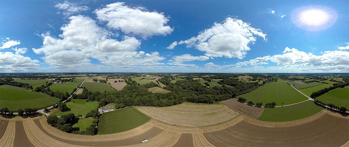 Chambre Agriculture Bretagne - Mes Parcelles - Une jolie idée - Agence de réalité virtuelle - Production de photo sphérique et de vidéo 360°