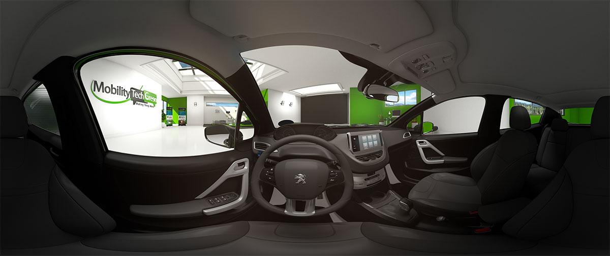 Mobility Tech Green - MTG - Autopartage - Showroom VR - Une jolie idée - Agence de réalité virtuelle - Production de photo sphérique et de vidéo 360°
