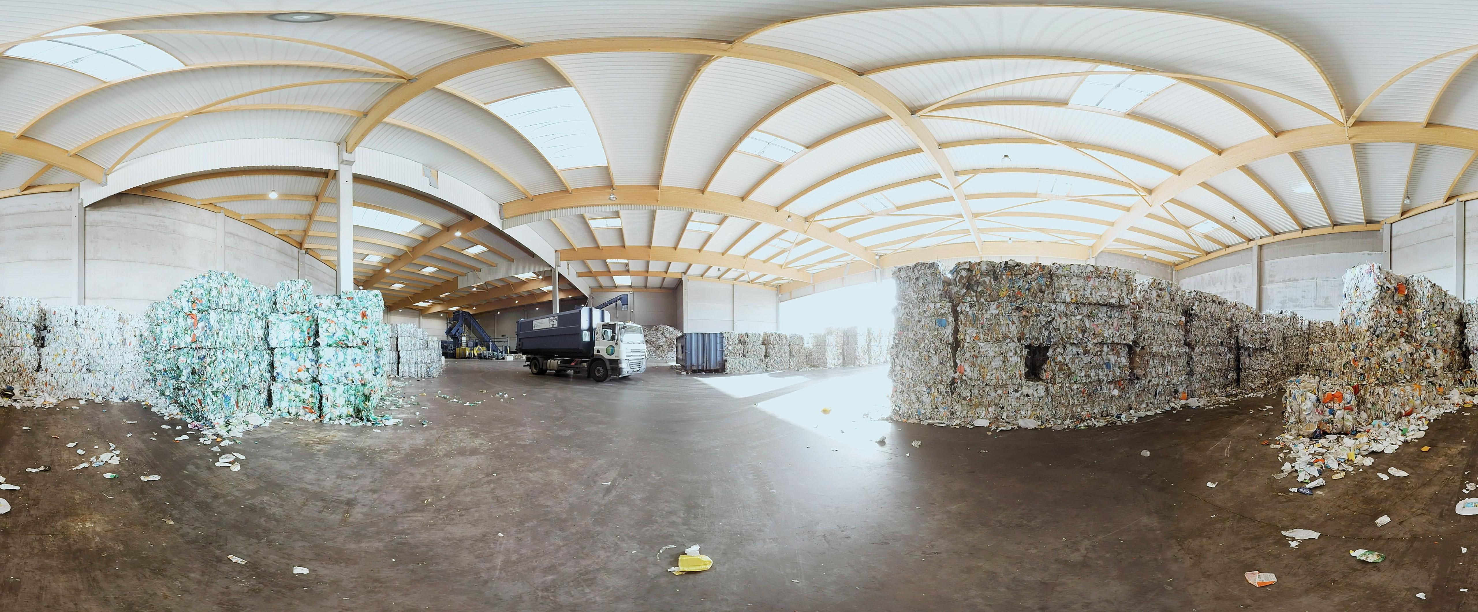 Paprec - Usine de recyclage - Une jolie idée - Agence de réalité virtuelle - Production de photo sphérique et de vidéo 360°