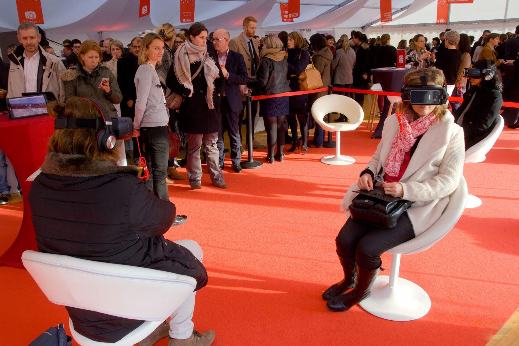 CMB Arkéa - Showroom - Une jolie idée - Agence de réalité virtuelle - Production de photo sphérique et de vidéo 360°